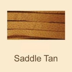 "Saddle Tan Deerskin Lace - 3/16"" X 50 Ft Spool"
