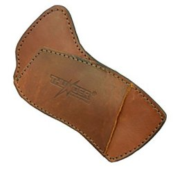 Cross Draw Custom Leather Knife Sheath - Brown L.H. - Thunder Basin Knives