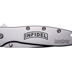 Banner Infidel Engraved Kershaw Leek 1660 Ken Onion Design Folding Speedsafe Pocket Knife By Ndz Performance