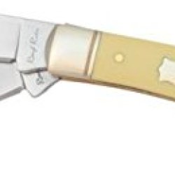 Rough Rider Trapper Fold Knife, Smooth Yellow Synthetic Handle Kb21