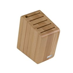 Artelegno 41 Verona Magnetic Knife Block With Sharpener Slot, Solid Beech Wood Natural Lacquer Finish