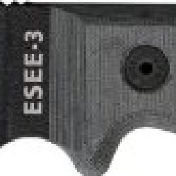 Esee Model 3 Partially Serrated Black Blade - Molle Back