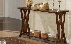 Image of 1-pc Beautiful Console Table in Espresso Finish PDSF60206 (B004RQ9MNO)
