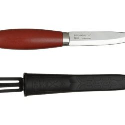 Morakniv Classic No 2 Wood Handle Utility Knife With Carbon Steel Blade, 4.2-Inch