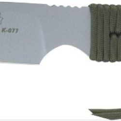 Tops Knives Stxl04Hpbp Strikar Xl Hunters Point Fixed Blade Knife With Od Green & Black Paracord Wrapped Handles