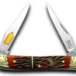 Steel Warrior Watermelon Jigged Bone Muskrat Pocket Knife Knives