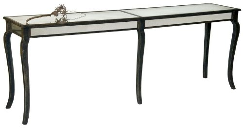 Image of Notre Monde CT8418-BD-C Console Table with Curved Legs - Black Driftwood (CT8418-BD-C)