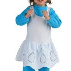 The Smurfs Romper And Headpiece Smurfette, Smurfette Print, Newborn