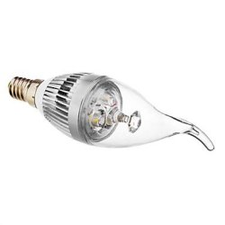 E14 3 W 300 Lm Warm White Led Candle Bulb, 3000-3500 K (180-240 - V)