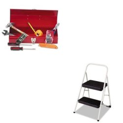 Kitcsc11135Clgg1Gnsctb9 - Value Kit - Great Neck Ctb9 Light Duty Office Tool Kit, 16 Piece (Gnsctb9) And Cosco 2-Step Folding Steel Step Stool (Csc11135Clgg1)
