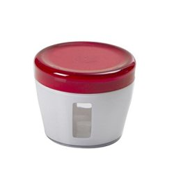 Omada Oblo' Acrylic Canisters With Lid , Set Of 6 (17-Ounce, Red Ruby)