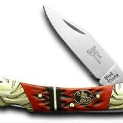 Steel Warrior Watermelon Jigged Bone Viper Lockblade Pocket Knife Knives