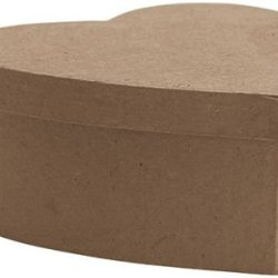 Dcc Paper Mache Small Heart Box, 4.5-Inch X 4.5-Inch X 2.125-Inch