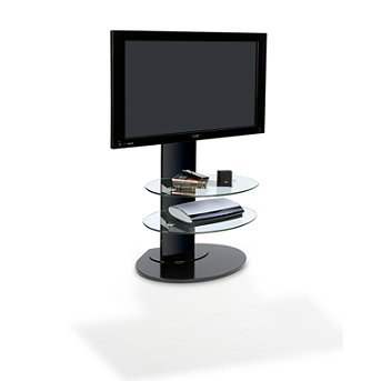 Image of Flat-panel TV Stand - Glossy Black - Frontgate (82092 GBK)
