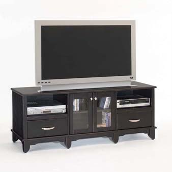 Image of Home Styles Manhattan TV Stand - Ebony Finish 88-5522-12 (88-5522-12)