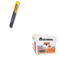 Kitbos10150Unv21200 - Value Kit - Stanley Straight Handle Knife W/Retractable 13 Point Snap-Off Blade (Bos10150) And Universal Copy Paper (Unv21200)