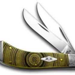 Case Xx Antique Bone Tree Rings Saddlehorn 1/500 Pocket Knife Knives