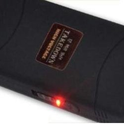 Black 12 Million 12,000,000 Volt Mini Stun Gun + Led Flashlight + Case