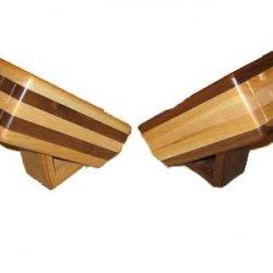 Handcrafted Wooden Knife Block, Walnut