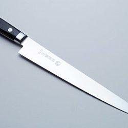 Yoshihiro Inox Stain-Resistant Aus-10 Steel Ice Hardened Sujihiki Slicer Chefs Knife 9.5Inch 240Mm