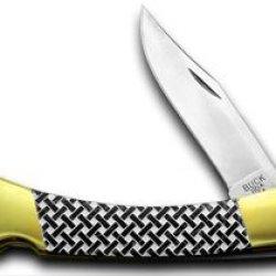 Buck 110 Custom Black Pearl Corelon Basketweave Hunter 1/400 Pocket Knife Knives