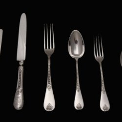 A Superb French Antique Minerva 1, 164 Piece Sterling Silver Flatware Set Complete With 8 Serving Pieces And 8 Anti-Tarnish Wraps By Internationally Known French Silversmith Charles Victor Gibert (Circa 1895) !!