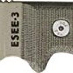 Esee Mdl 3 Stnd Edge Fxd Knife, 3.75In, Od Green Steel, Od Green Canvas Micarta Es-3P-Ko-Dt