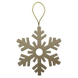 Paper Mache Flat Snowflakes Ornament By Craft Pedlars