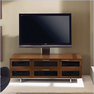 Image of BDI Avion II Flat Panel Cabinet TV Stand in Chocolate Stained Walnut (8927CW)