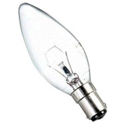 Eveready 10 X 25W Clear Candle Small Bayonet Cap (Sbc/B15) Lamp - [Eu Specification: 220-240V]