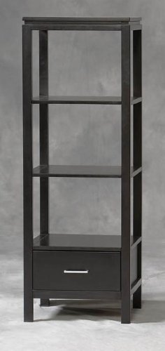 Image of Linon Sutton Plasma Center TV Stand and Towers Set (84026BLK-01-KD-U-PKG)
