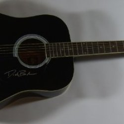 Dierks Bentley Feel That Fire Authentic Signed Autographed Full Size Black Acoustic Guitar Loa