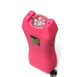 "Pink Stun Gun, Pink 1 Million Volt Rechargeable Stun Gun With Flashlight ""The Pocket Hero"" By Shock 'N Awe"