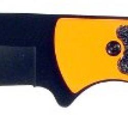 Ruko 4-1/8-Inch Blade Hunting Knife With Orange Blaze Handle And Nylon Sheath