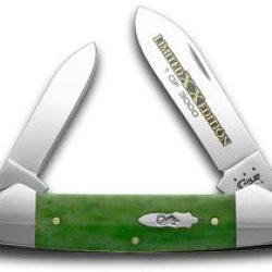 Case Xx Moss Green Bone Limited Edition 1/3000 Pocket Knife Knives