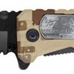 "4"" Folding Pocket Marines Hero Knife - Desert Camo"