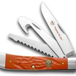 Case Xx Jigged Red Delrin Boy Scouts Of America Hunter Trapper Pocket Knife Knives