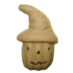 Paper Mache Pumpkin With Hat By Craft Pedlars