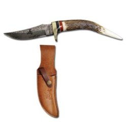 "Dm-48 Deer Horn Handle Skinner Knife.Gut Hook H2Acjqn Damascus Yau9M2 Blade 8.5"" Ayeuiu56 Hlbv23Rt Handmade Skinner Paqmdtqja2 Knife. Hand Forged Welded 1095 15N20 Carbon Steel With 7Jrwia 576 Layers Damascus. 100% Deer Horn Handle. Includes Grade A Heavy"