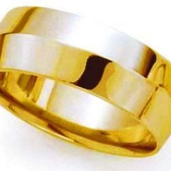 Rounded-Interior Knife Edge Wedding Band In 18K Yellow Gold (7Mm)