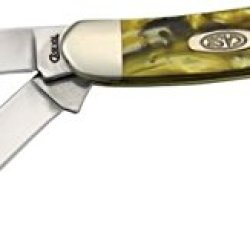 Case Cutlery 931824Kt Case 24 Karat Corelon Medium Stockman Pocket Knife With Stainless Steel Blades In Brown And Gold Colored Mixed Corelon