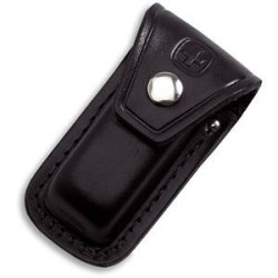 Large Black Leather Sheath For Swiss Army Knives