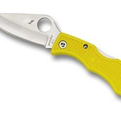 Spyderco Ladybug 3 Salt Lightweight Yellow Frn Plainedge Folding Knife