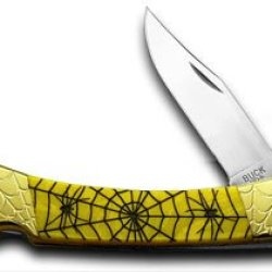 Buck 110 Custom Yellow Corelon Recluse Folding Hunter 1/200 Pocket Knives