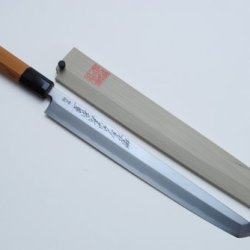 "Yoshihiro Aonamiuchi (Blue Steel #1) Sakimaru Takobiki Yew Handle Sushi Sashimi Chef Knife 13"" (330Mm)"
