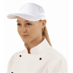 Lightweight Baseball Cap White. One Size With Adjustable Strap.