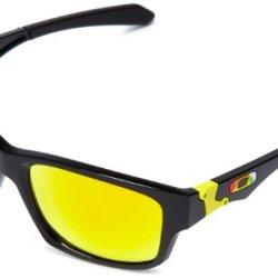 Oakley Valentino Rossi Signature Sunglasses - Polished Black/Fire Iridium Lens