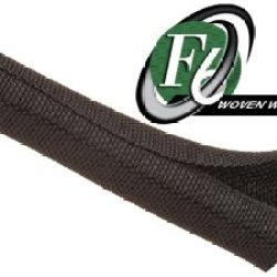 "Techflex F6 Woven Wrap 5/16"" 10' Wiring Split Wire Covering F6W0.31Bk"