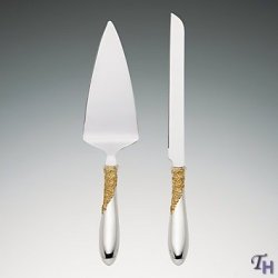 Lenox Marchesa Rose Cake Knife And Server Set