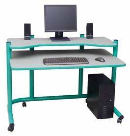 Picture of Comfortable Computer Workstation in Green and Spatter Grey by Studio Designs (B005D4ZJI6) (Computer Workstations)